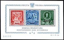 POLEN 1946 BLOCK9 BIE ** POSTFRISCH TADELOS PERFEKT 650€(49910