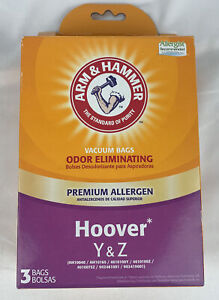 Arm & Hammer Hoover Y & Z Odor Eliminating Vacuum Bags 67978G - 3 Pack - NEW