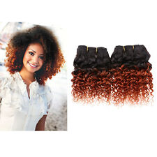 2 Bundles 7A 8'' Kinky Curly Ombre Human Hair Extensions Weft 50g/pc 1b/350 US