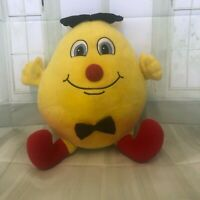 Humpty Dumpty 40cm long  yellow red and black plush soft toy