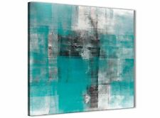 Teal Black White Painting Kitchen Canvas Accessories - Abstract 1s399s - 49cm