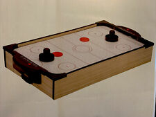 """Tabletop Air Hockey Indoor Portable Game Battery Operated 24""""x12"""" Home Office"""