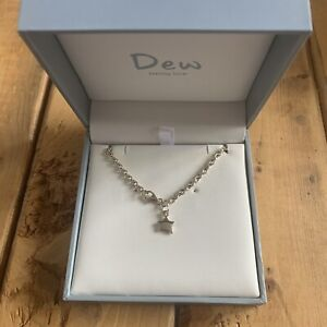 Sterling Silver Bracelet From Dew Jewellery Featuring Solid Silver Star Charm