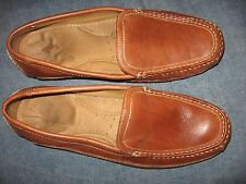 MENS 11 M DOCKERS BROWN LEATHER SLIP ON CASUAL LOAFERS COMFORT DECK BOAT  SHOES