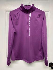 Under Armour ColdGear #1357424 Womens Cozy Graphic 1/2 Zip Top: L, Purple, 2020