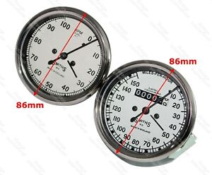 Smiths Kopie 0-150 Mph Speedo & RPM Meter Für Royal Enfield Norton Triumph @ US