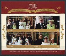 Tuvalu 2018 MNH Prince Harry & Meghan Royal Wedding 4v M/S Royalty Stamps
