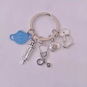 Nurse Keyring Keychain | Novelty NHS Love Careworker Mum Dad Sister Brother Frie