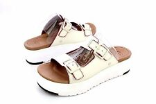 UGG HANNELI WHITE LEATHER PLATFORM SANDALS SIZE 9.5 US WOMENS