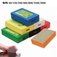 60-3000Grit Diamond Polishing Hand Pads Block For Granite Marble Glass Grinding