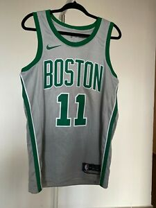 Kyrie Irving Boston Celtics Medium Men's M 44 Nike CITY ED Jersey Swingman Gray