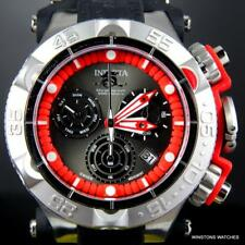 Mens Invicta Subaqua Noma V Red 50mm Swiss Movt Chronograph Silicone Watch New