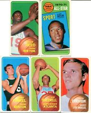 1970-71 TOPPS BASKETBALL LOT 11 DIFF W/HOF'ERS ELGIN BYLOR A.S.,REED VERY GOOD