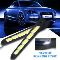 2x 12V LED STRIP DRL DAYTIME RUNNING LIGHTS FOG COB CAR LAMP WHITE DAY DRIVING