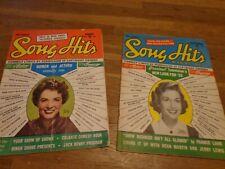 Song Hits Nov. 1954 Debbie Reynolds & Aug. 1953 Lot of 2