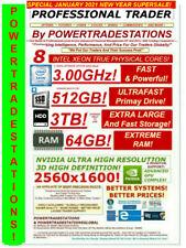 DELL TRADING COMPUTER 6Monitor 8CoreXeon 64RAM 512SSD 3TBHDD DVDRW W10P DESKTOP