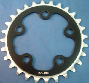 Quality 28Tx 74BCD Alloy Road/MTB Chainring-NEW / NOS- 3x7/8/9-Spd