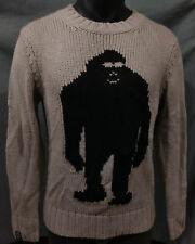 Air Blaster Sassy Sweater Mens Yeti/Sasquatch/Big Foot/Ugly/Funny-Gray/Black-XS