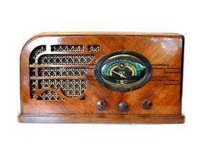 VINTAGE 1930s UNIQUE TUNER AIRLINE OLD DEPRESSION ERA ANTIQUE ART DECO RADIO