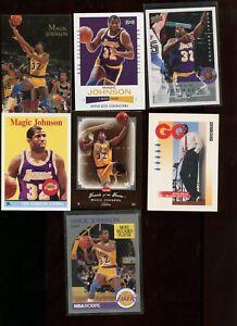 MAGIC JOHNSON LOS ANGELES LAKERS NBA 16 DIFFERENT BASKETBALL CARD LOT