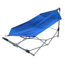 Portable Folding Hammock Camping Hanging Patio Deck Outdoor Garden Relax Sleep