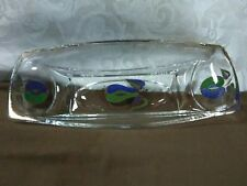 """Lovely Vtg.Mid-Century Georges Briard """"Forbidden Fruit"""" Rectangle Glass Dish"""