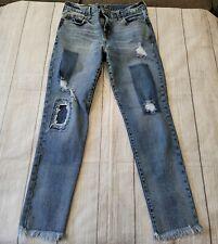 Gap Women's •Size 6/28• Distressed Raw Hem Shadow Patch Denim Jeans Fall Winter