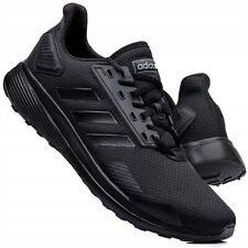 Adidas Duramo 9 Men's Boy's Running Deporte Zapatillas Negro Reino Unido Stock