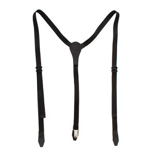 RRP €235 DSQUARED2 Web Clip On Braces Suspenders One Size Y Back Made in Italy