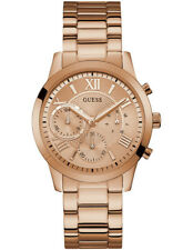 Authentic GUESS Ladies' Solar Watch Rose Gold Tone W1070l3