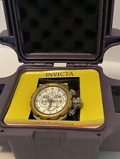 INVICTA Russian Diver Limited Swiss Chrono Large Watch with Books & Purple Case!