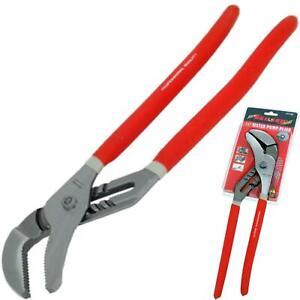 """Neilsen 16"""" Large Plumbers Soft Grip Waterpump Pipe Wrench Pliers Grips Pump"""