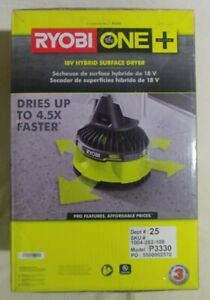 NEW RYOBI 18V ONE+ Hybrid Surface Dryer Fan P3330 New Tool Only
