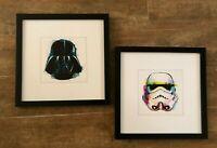 Star Wars Open Roads Darth Vader Storm Trooper Art wall hanging picture set lot