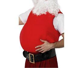 "Mens Belly Stuffer Vest 38-46"" Red Fat Stuffer by Smiffys New"