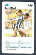 TOP TRUMPS-TODAY'S STRIKERS-1992- #4C-SHEFFIELD WEDNESDAY-BARNSLEY-DAVID HIRST