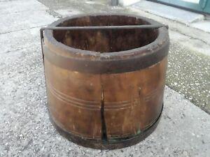 Antique Tino Baril Porte-Revues Récipient Bouteille Vin 50x36cm