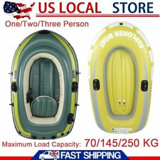 1/2/3 Person PVC Inflatable Fishing Rowing Boat Raft Canoe Kayak Dinghy