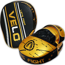 VELO Curved Focus Pads Mitts Hook and Jab Punch Bag Kick Boxing Muay Thai MMA US