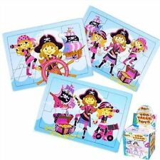 Pink Pirate Jigsaw Puzzle party bag filler x 8