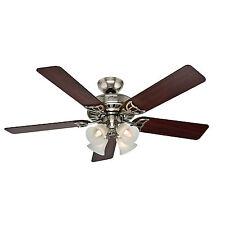 """HUNTER 52"""" Studio Series """"Brushed Nickel"""" Ceiling Fan w/ Light - Model #53064"""