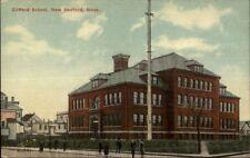 New Bedford MA Clifford School c1910 Postcard