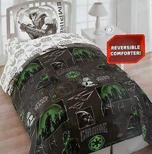 Star Wars ROGUE ONE Twin 4 Piece Bedding Set Reverse Comforter Bonus Tote