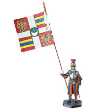Tin Toy Soldier Vatican Swiss Guard Private with banner 54mm painted #14.22a