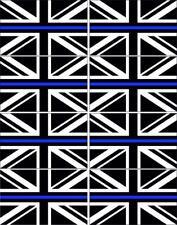 8 x THIN BLUE LINE UNION JACK ALL WEATHER VINYL STICKERS DECALS CAR VAN WINDOWS