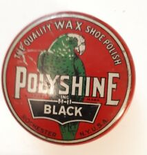 "RARE (ROCHESTER) ""POLYSHINE - THE QUALITY WAX SHOE POLISH - BLACK"" 2.5 OUNCE TIN"