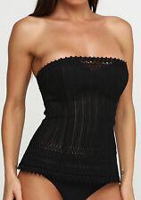 Corset Lingerie La Perla Body Shaper Black Overbust 70B, 34, S Lace Up For Women