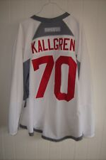 ARIZONA COYOTES Erik Kallgren worn white RBK goalie jersey NOB 2017 rookie camp