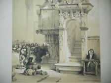 DAY & HAGUE LOUIS HAGHE LITHOGRAPH 1840 PULPIT CATHEDRAL TREVES BELGIUM GERMANY