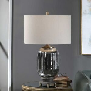 CASWELL MODERN INDUSTRIAL INSPIRED CAST IRON GLASS ACCENT TABLE LAMP UTTERMOST
